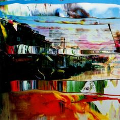 Firenze series by Gerhard Richter, Using thick, luscious oil paint, Richter distorts his photographs to bring a new dimension to his works- its just makes you want to reach out and touch it!