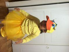 Disfraz de patita para mi hija de 3 años