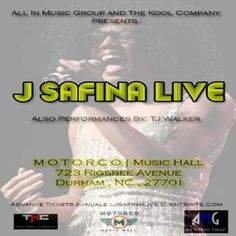 @All_In2012 & @TheKoolCompany Present #JSafinaLIVE (@MoreJayPlease) At Motorco Music Hall