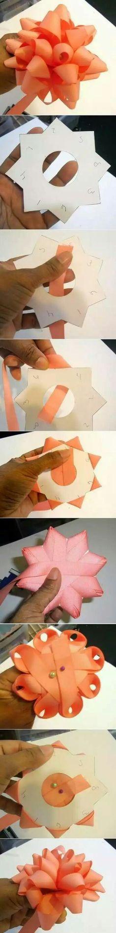 DIY Bow Ribbon diy crafts easy crafts crafty easy diy diy bow craft bow diy gifts by terra Diy Bow, Diy Ribbon, Ribbon Crafts, Ribbon Bows, Paper Crafts, Ribbons, Ribbon Flower, Flower Paper, Paper Ribbon