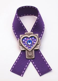 Purple Pancreatic Cancer Awareness Pin. Go to www.etsy.com/shop/cancerfreeme to purchase one!