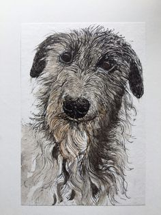 Robin Ezra 'Rufus' Waterless Lithograph, watercolour
