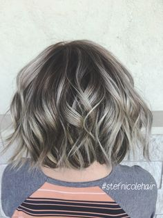 A Guide To Rudimentary Information For Everlasting Finger-Nails Pelo Color Ceniza, Gray Hair Highlights, Hair Color And Cut, Great Hair, Hair Today, Balayage Hair, Hair Goals, Hair Inspiration, Curly Hair Styles