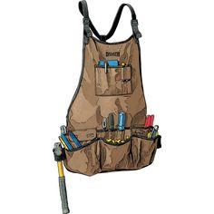 Let's face it, wood glue doesn't come out of your pants no matter how hard you try. Sharp screws don't exactly extend the life expectancy of your pockets much either. The solution is a great shop apron – our improved Fire Hose Bib Apron. Woodworking Apron, Woodworking Wood, Woodworking Projects, Woodworking Techniques, Tool Apron, Bib Apron, Apron Diy, Duluth Trading Company, Work Aprons