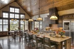 Kitchen Lakeside View - rustic - kitchen - minneapolis - Lands End Development - Designers & Builders