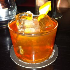 Old fashioned No.2 @ 69 Colebrook Row, didnt taste like they'd stirred it properly...