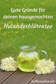 Why you should collect elderflowers for your tea - Warum du Holunderblüten für deinen Tee sammeln solltest Elderflowers are not only delicious in Hugo, a small supply of dried flowers will help your health all year round. Health Advice, Health And Wellness, Herbal Essences, Garden Care, Medicinal Herbs, Alternative Medicine, Detox Drinks, Herbal Medicine, Diet And Nutrition