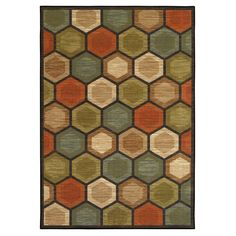Multicolor Monaco Polygon Rug 8 X 10 ft