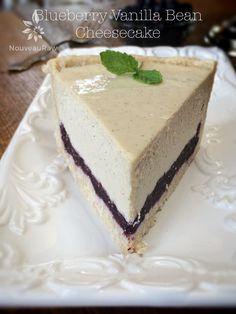 Blueberry Vanilla Bean Cheesecake (raw, vegan, gluten-free)
