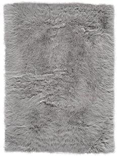 House of Hampton Ryckman Faux Fur Gray Area Rug House of Hampton Grey Faux Fur Rug, Faux Fur Area Rug, Gray Shag Rug, Fur Carpet, Rugs On Carpet, Carpets, Grey Carpet, Modern Carpet, Wall Carpet