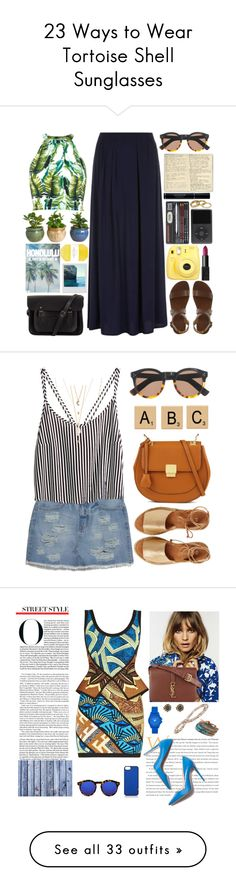 """""""23 Ways to Wear Tortoise Shell Sunglasses"""" by polyvore-editorial ❤ liked on Polyvore"""