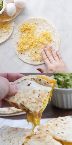 Breakfast Quesadillas with bacon, egg and cheese. An easy breakfast or dinner idea your family is sure to LOVE! Breakfast Quesadillas with bacon, egg and cheese. An easy breakfast or dinner idea your family is sure to LOVE! Breakfast Desayunos, Best Breakfast Recipes, Breakfast Dishes, Breakfast Quesadilla, Ideas For Breakfast, Blueberry Breakfast, Breakfast Burritos, Yummy Easy Breakfast, English Muffin Breakfast