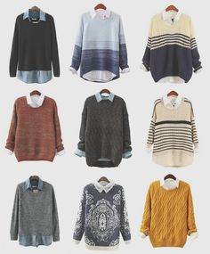 Button-down blouse + Sweater = <3                                                                                                                                                                                 More