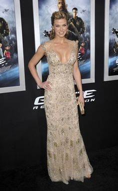 "Adrianne Palicki Is Gorgeous In Gold At ""G.I. Joe: Retaliation"" L.A. Premiere"