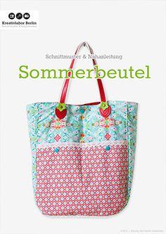 Kostenloses Schnittmuster  Nähanleitung: Sommerbeutel mit Taschengriffen | Kreativlabor Berlin