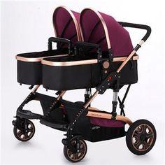 stock clear twin baby cart width 4 mode high landscape pram carrier poussette stroller no bugaboo donkey Double Baby Strollers, Best Double Stroller, Best Baby Strollers, Twin Strollers, Double Stroller For Twins, Bugaboo Donkey, Umbrella Stroller, Pram Stroller, Jogging Stroller