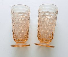 American Whitehall Pink / Peach Ice Tea / Water by pluckylucky $12 plus $10 shipping
