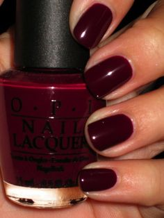 The best thing about fall? Fall nail colors! OPI - William Tell Them About #nails
