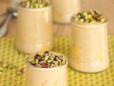 Crème dessert chocolatée et pralinée aux éclats de noisettes