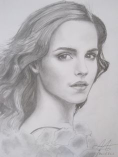 Gorgeous Ms Watson in a fina art drawing, excellent art work !