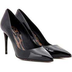 Dolce & Gabbana Kate Patent Leather Pumps ($880) ❤ liked on Polyvore featuring shoes, pumps, black, black patent pumps, black shoes, black pumps, black patent leather pumps and dolce gabbana shoes