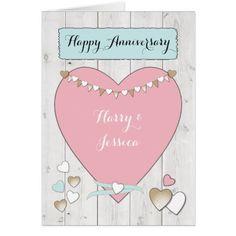 Wedding Anniversary Card Shabby Chic