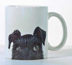 Schnauzer Mug Black Schnauzer Custom Schnauzer Gift by ArtByJulene