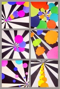 WEST MIDDLETON ART SMARTIES: Gr. 3: Shapes in Space (construction paper collage)