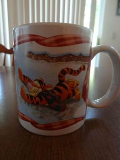 Disney Houston Harvest Mug Winnie the Pooh Tigger Eeyore Christmas Ice Skating
