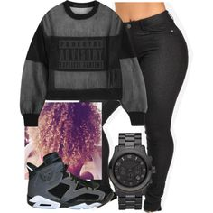Black and Grey by khanyajane on Polyvore featuring Alexander Wang and Michael Kors