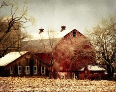 Red Country Barn Photograph  landscape farm by FirstLightPhoto, $30.00