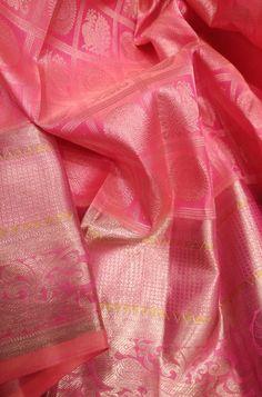 1 new message Kanjivaram Sarees Silk, Indian Silk Sarees, Pure Silk Sarees, Pink Saree Silk, Wedding Silk Saree, Pink Saree Blouse, Bridal Sarees, Checks Saree, Pattu Saree Blouse Designs
