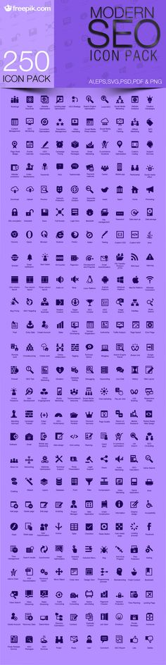 Free Download: Modern SEO Icon Pack - Designbeep/Freepik is a search engine that tracks and locate free graphic resources from more than 200 webs and displays the results in an orderly layout for easy access. More than 1,4 mill vectors, images, icons and psd at your disposal.