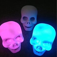 Color Changing Skull LED Night Light Lamp | LightInTheBox