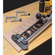 Enjoy the Milescraft Sign Pro Sign-Making Jig Set for Routers TurnLock technology templates included offers speed and convenience for professional-quality, engraved wooden signs from The Home Depot diy for beginners plans tips tools Used Woodworking Tools, Small Woodworking Projects, Popular Woodworking, Woodworking Furniture, Diy Wood Projects, Woodworking Crafts, Wood Crafts, Woodworking Jigsaw, Router Woodworking