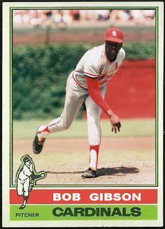 1976 Topps Bob Gibson, St. Louis Cardinals, Baseball Cards That Never Were.