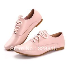 free shipping vintage british style casual shoes genuine leather flat shoes women fashion loafers flat heels shoe $20.59