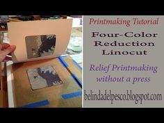Printmaking Demonstration: Four Color Reduction Linocut (5 minutes) - YouTube