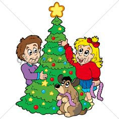 Decorating the Christmas Tree together