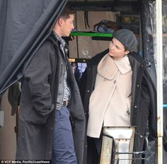 Josh Dallas and Ginnifer Goodwin on the set of 'Once Upon a Time, November 7, 2013
