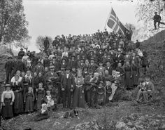 (Norwegian wedding picture) Knut Aaning was born in Stryn, Norway on April 23rd, 1880. He trained as a photographer in Bergen and then returned to Stryn to work as a photographer in the Oppstryn area. Aaning most likely worked out of his home. When he died in 1922, thousands of glass plate negatives were stored in his house.