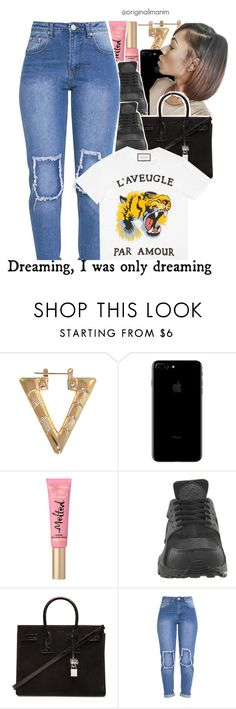 """""""02-14-2017."""" by originalimanim ❤ liked on Polyvore featuring NIKE, Yves Saint Laurent and Gucci"""
