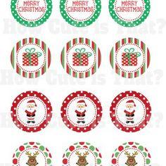 Printable Christmas Cupcake Toppers FREE
