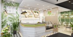 Modern Interior, Interior Architecture, Interior Design, Cafe Restaurant, Restaurant Design, Juice, Coconut, Layout, Table Decorations