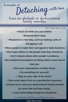 Codependency and the Art of Detaching From Dysfunctional Family Members Examples of detaching with love. If you're in a codependent relationship, learning to detach with love helps you regain peace and decrease worry and guilt. Dysfunctional Relationships, Healthy Relationships, Relationship Tips, Dysfunctional Family Quotes, Horoscope Relationships, Relationship Addiction, Relationship Questions, Relationship Pictures, Abusive Relationship