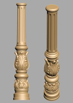 A1037  3D COLUMN Dinning Tables And Chairs, Columns Decor, Dining Room Furniture Design, Pillar Design, Column Design, 3d Cnc, Puja Room, Wood Turning Lathe, Carving Designs