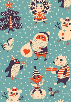 orange you lucky!  Helen Dardik illustration.  Her work is fun,  I find myself wishing she produced fabric with her designs