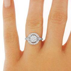 Art Nouveau Diamond Vintage Ring   Alexis   Brilliant Earth