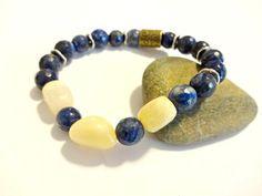 Mens Lapis Lazuli Bracelet Chakra Bracelet Healing by YoursTrulli www.etsy.com