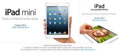 Cambia gratis tu New iPad por un iPad Mini o un iPad Retina